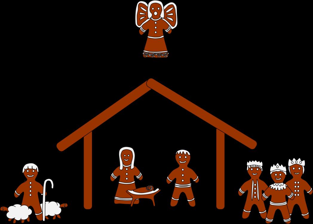 Gingerbread house Clip Art Christmas Nativity scene Nativity of ...
