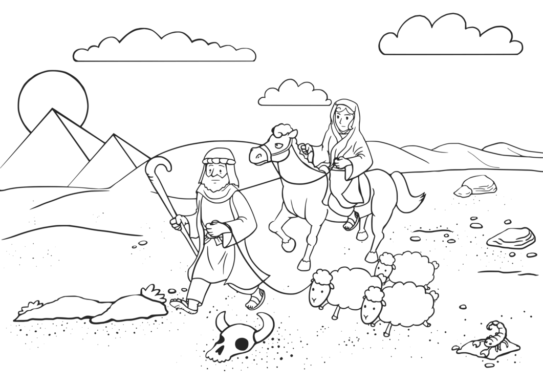 Bible story Coloring book The Story of Abraham Binding of Isaac free ...