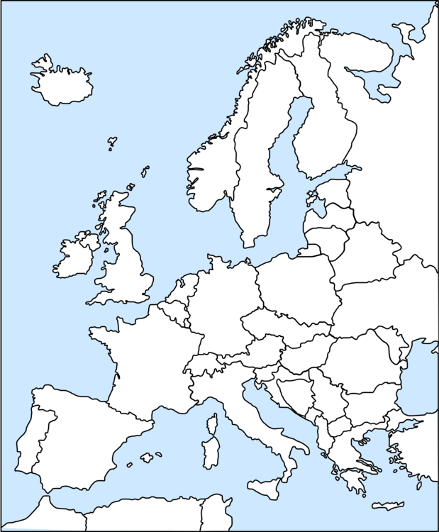 Europe Blank map Cartography World map free commercial clipart ...