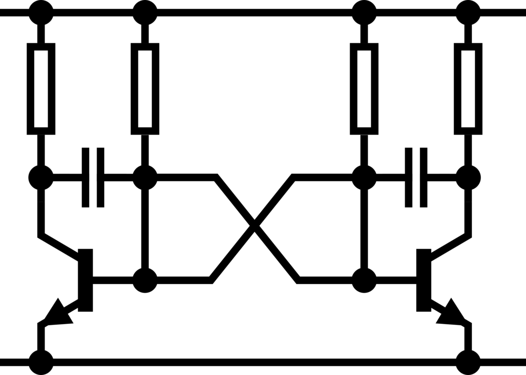 Electronic Circuit Transistor Electronic Symbol Electronics Astable