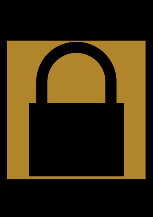 Lock,Symbol,Yellow