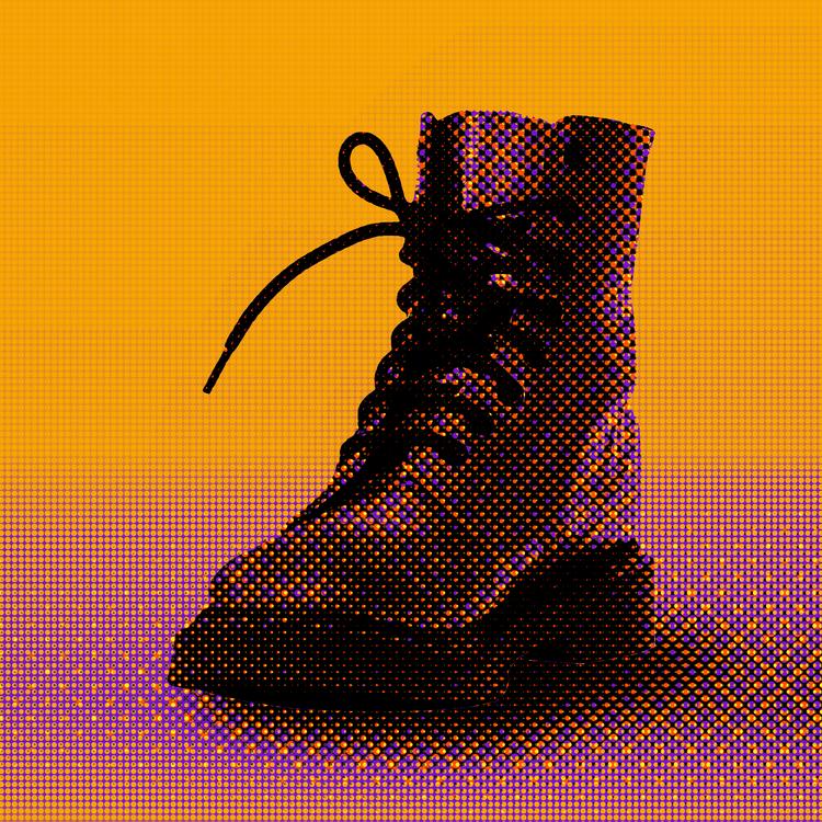 Art,Shoe,Halftone