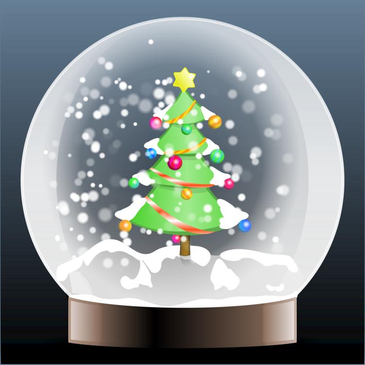 santa claus snow globes rudolph christmas tree