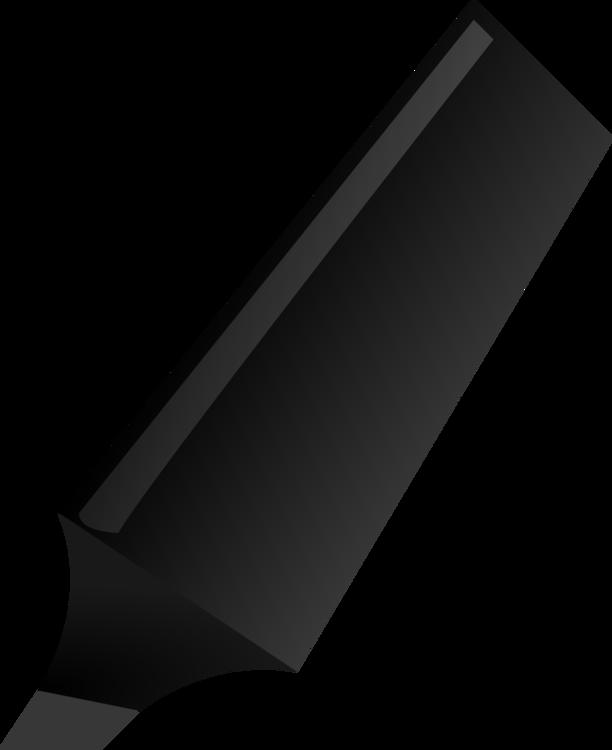 Angle,Black,Highlighter