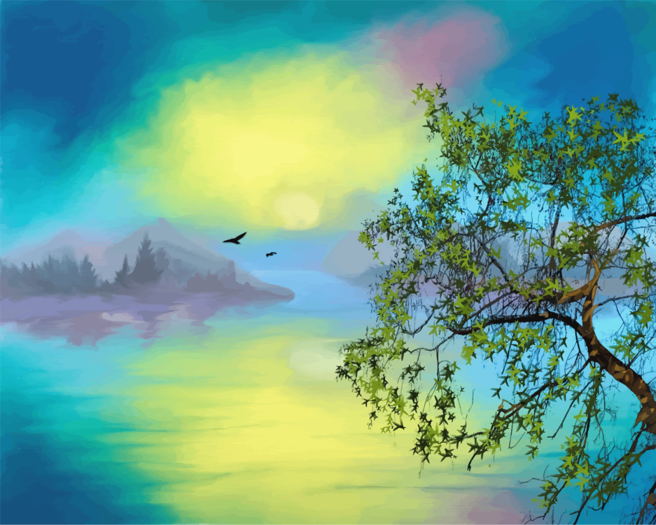 Visual Arts,Watercolor Paint,Sunlight