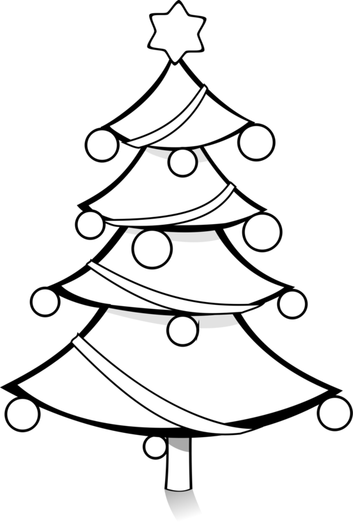 Christmas Tree Drawing Clip Art Christmas Cc0 Line Art Christmas