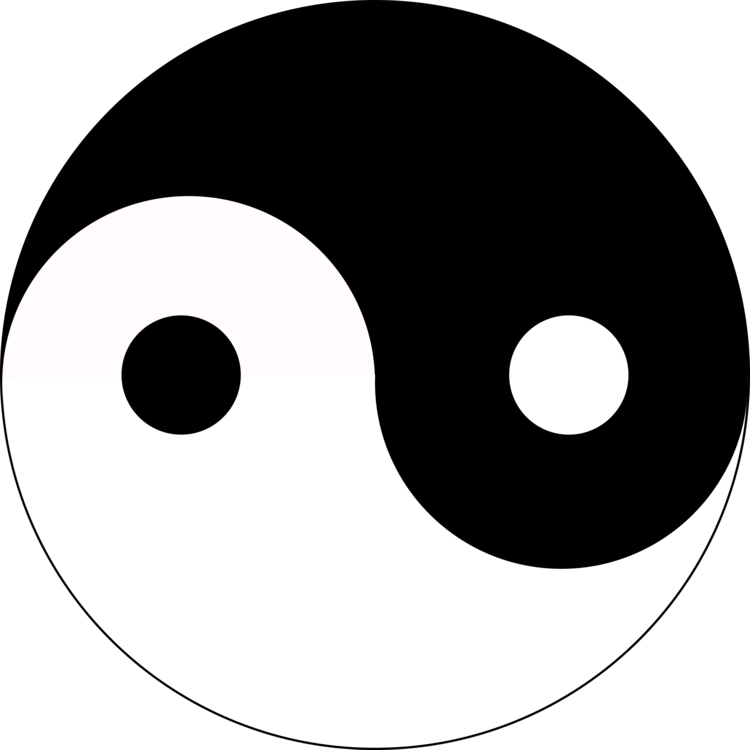 Yin And Yang Symbol Art Black And White Download Free Commercial