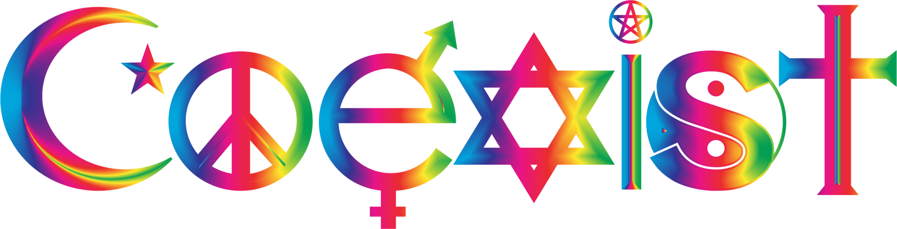 Coexist Symbol Religion Sticker Decal Free Commercial Clipart Logo