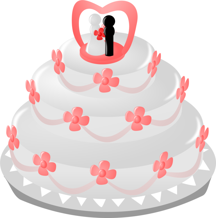 Wedding Cake Topper Wedding Invitation Free Commercial Clipart