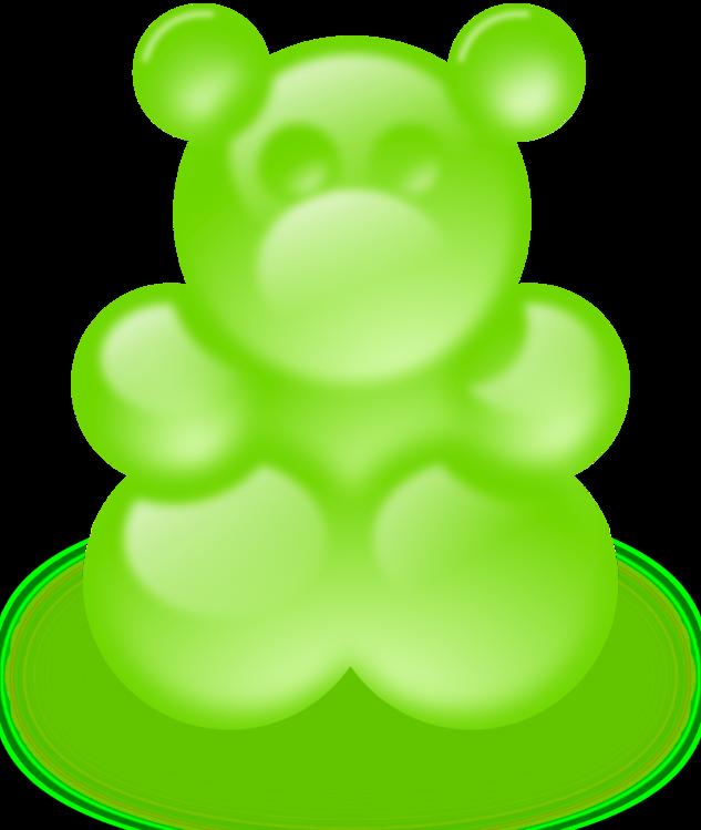 Gummi Candy,Fruit,Green
