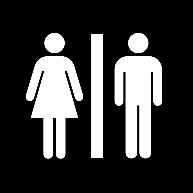 Unisex Public Toilet Bathroom Sign