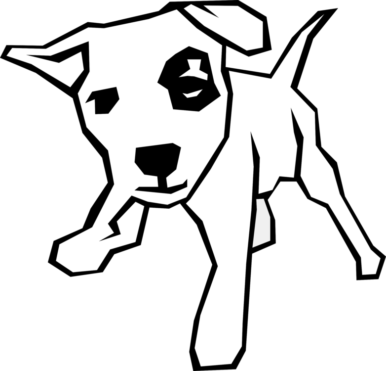 Bulldog Puppy Line Art Download Paw Free Commercial Clipart