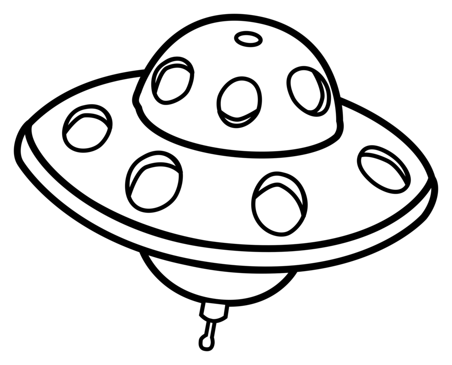 Unidentified Flying Object Drawing Line Art Flying Saucer