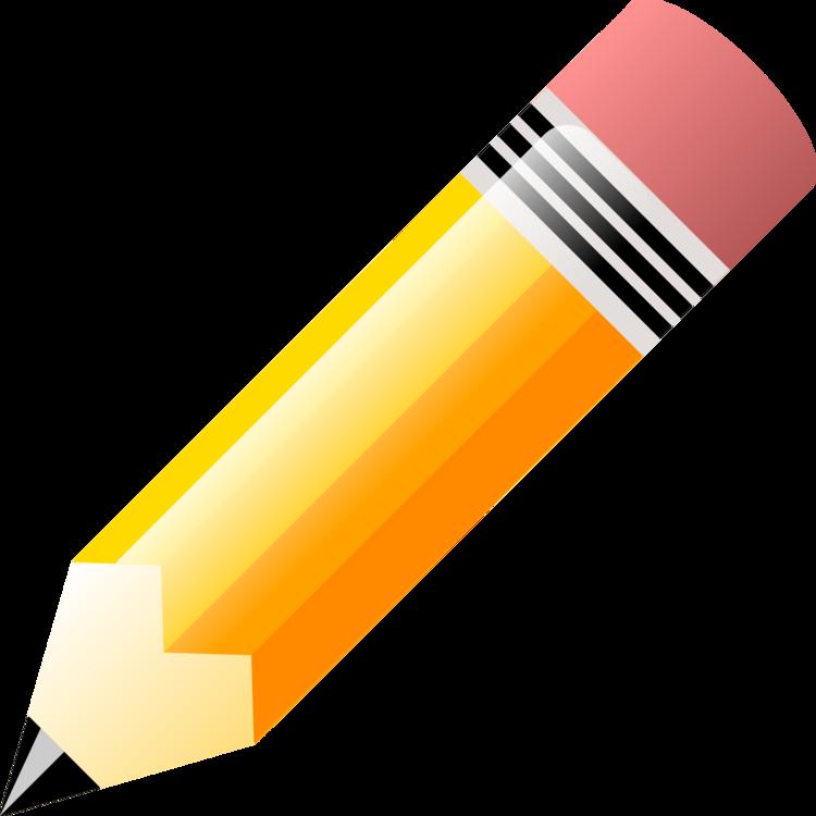 Pencil,Yellow,Orange