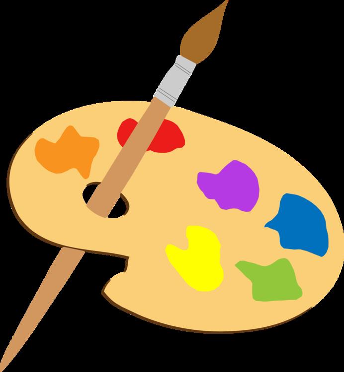 Yellow,Paintbrush,Brush