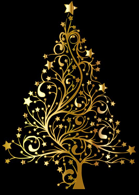 Pine Family,Decor,Gold
