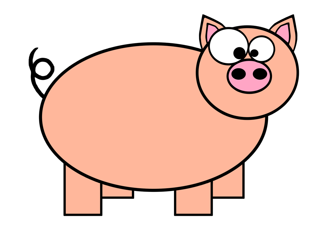 Piglet domestic pig cartoon animation