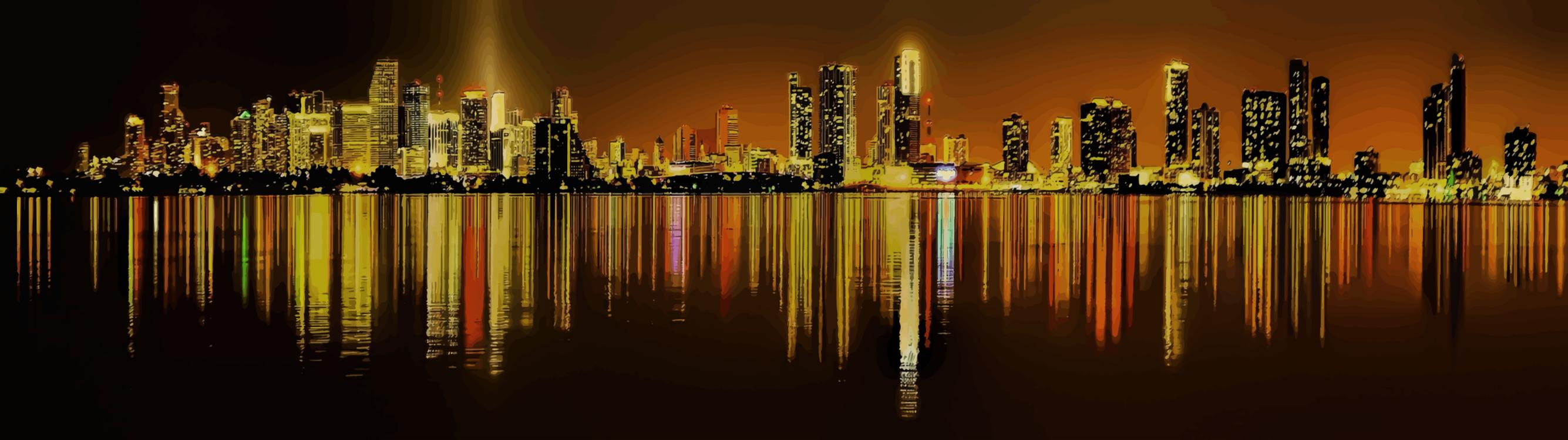 City,Metropolis,Evening