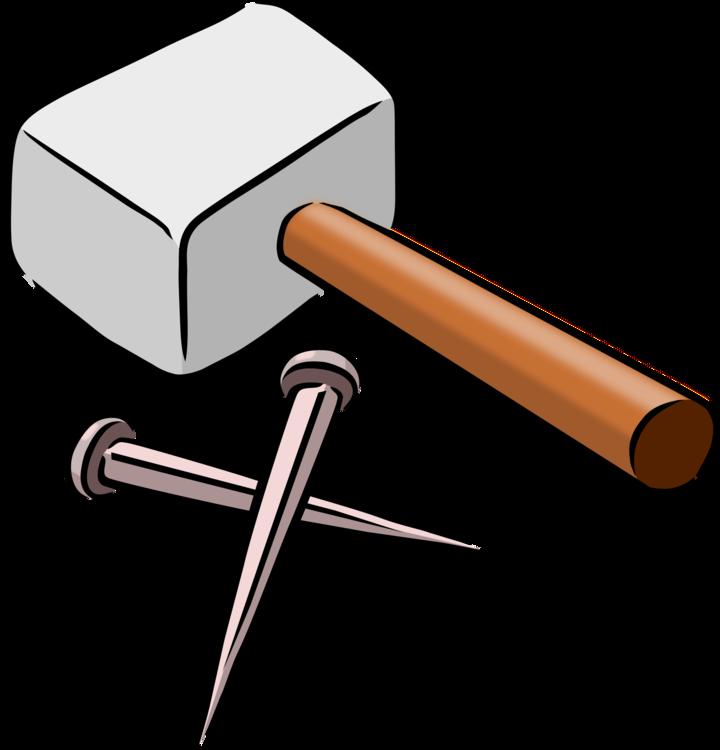 Hammer Tool Cartoon Drawing Free Commercial Clipart Hammernail