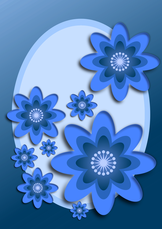 Blue,Flower,Symmetry