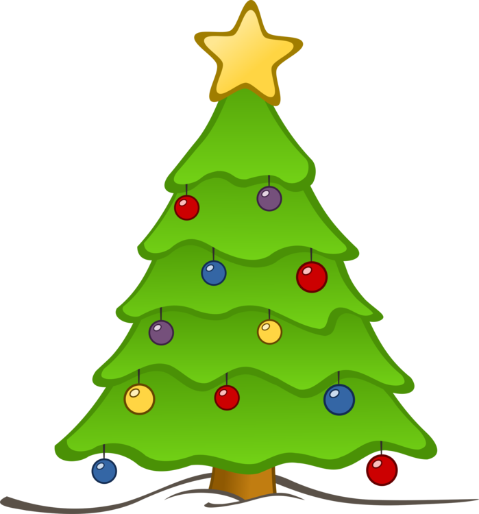 artificial christmas tree carol service free commercial clipart