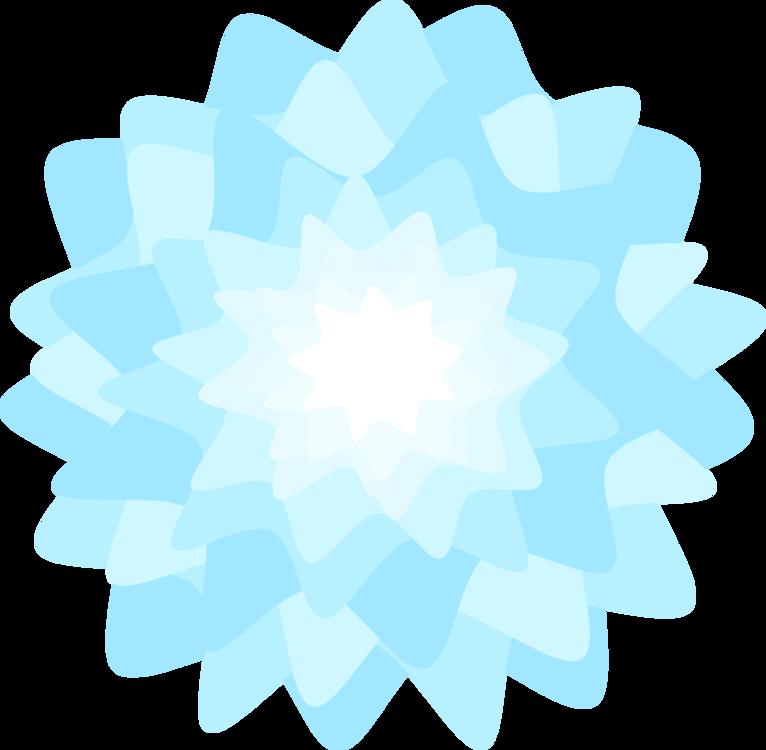Blue,Flower,Symmetry