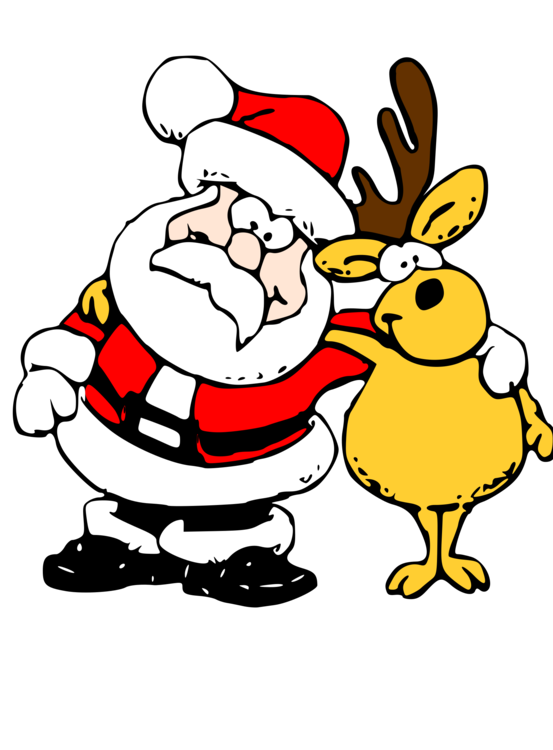 Reindeer Santa Claus Rudolph Christmas