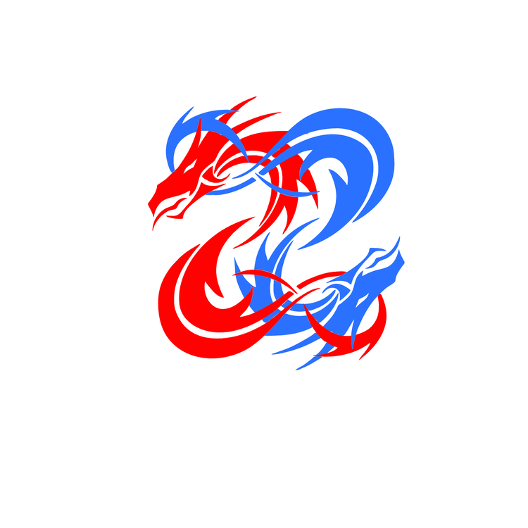 Chinese Dragon Symbol Logo Silhouette Free Commercial Clipart Logo
