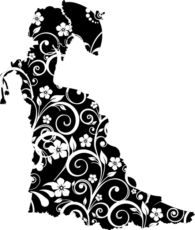 Visual Arts,Flower,Silhouette