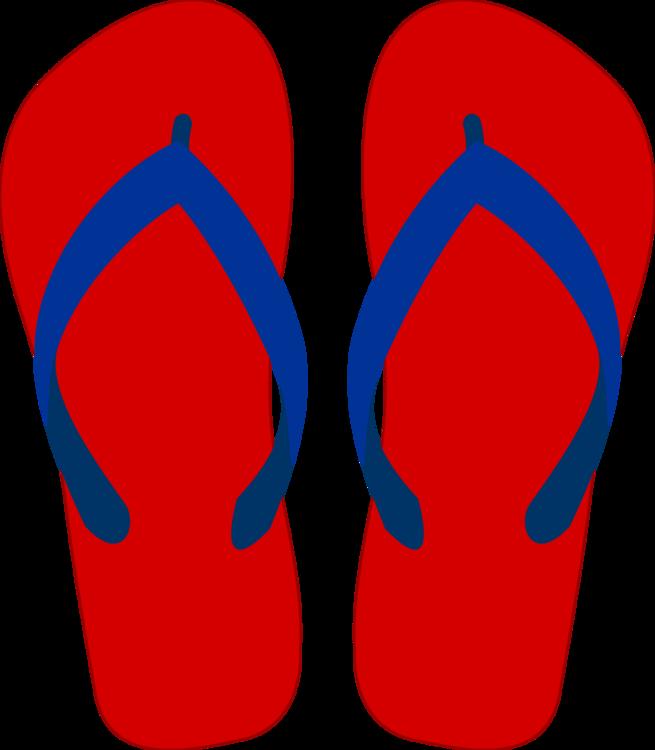 Area,Electric Blue,Flip Flops