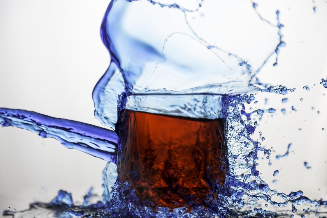 Fizzy Drinks Tea Water Glass Splash