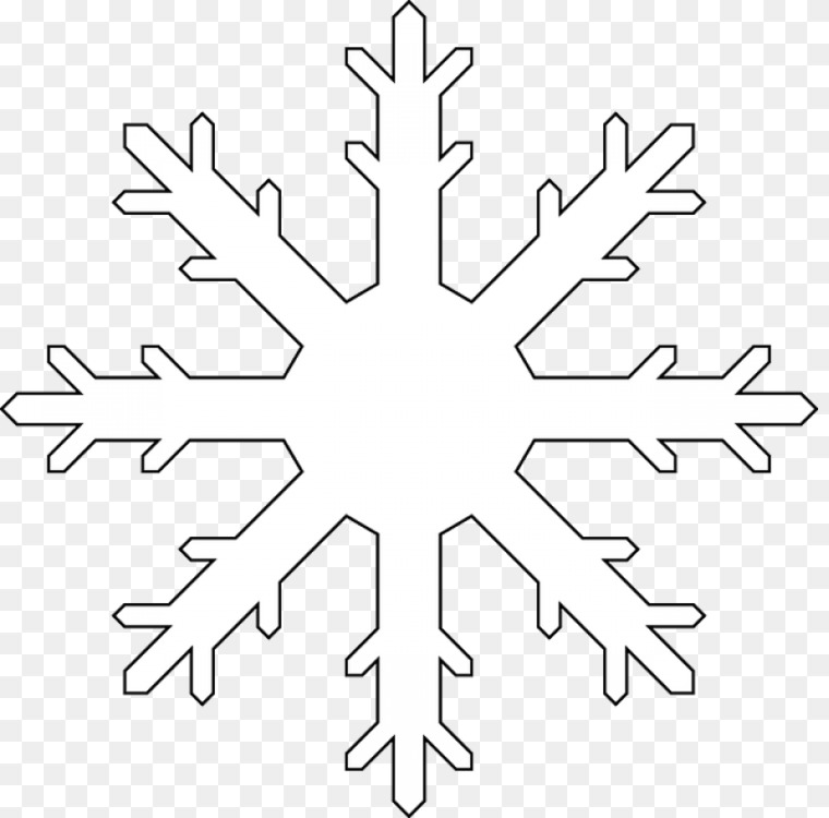 Simple Snowflake Line Art : Clipart cartoon snowflake coloring easy pictures