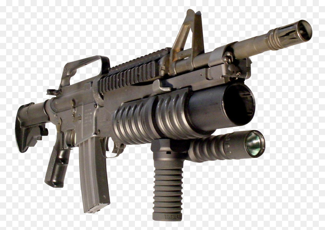 assault rifle m203 grenade launcher weapon free png image assault
