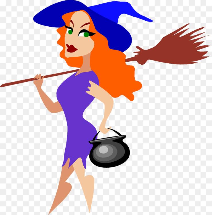 Witchcraft Cartoon Silhouette Halloween Blog CC0 - Woman,Art,Girl