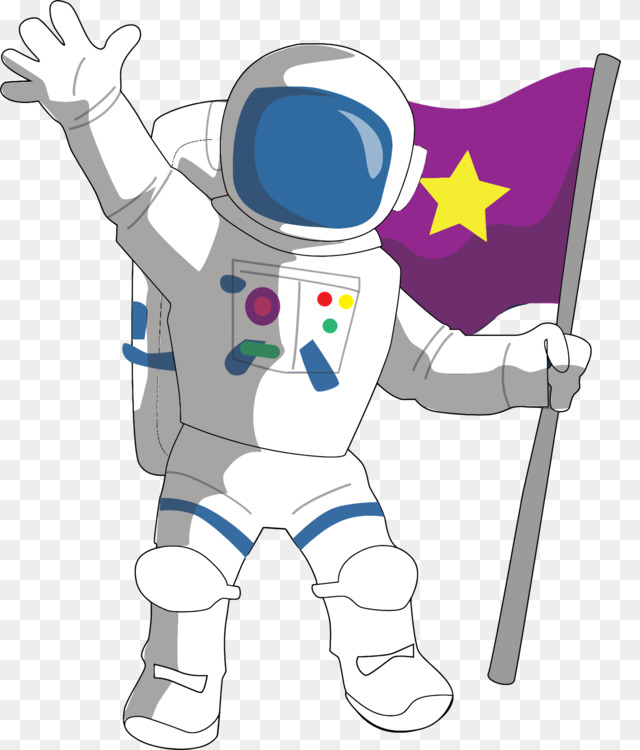 Astronaut Drawing Cartoon Outer Space Comics Free Png Image