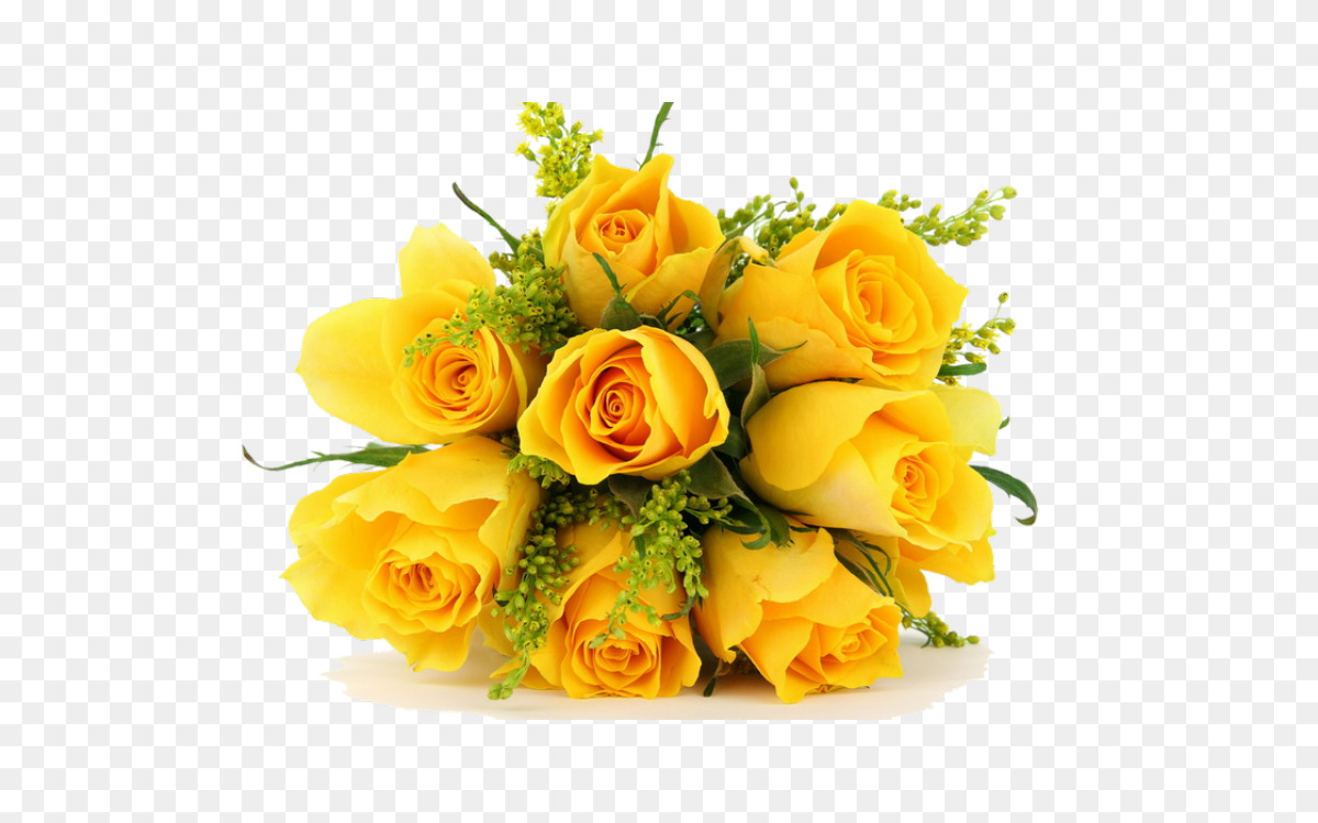 Flower Bouquet Rose Cut Flowers Yellow Free Png Image Flower