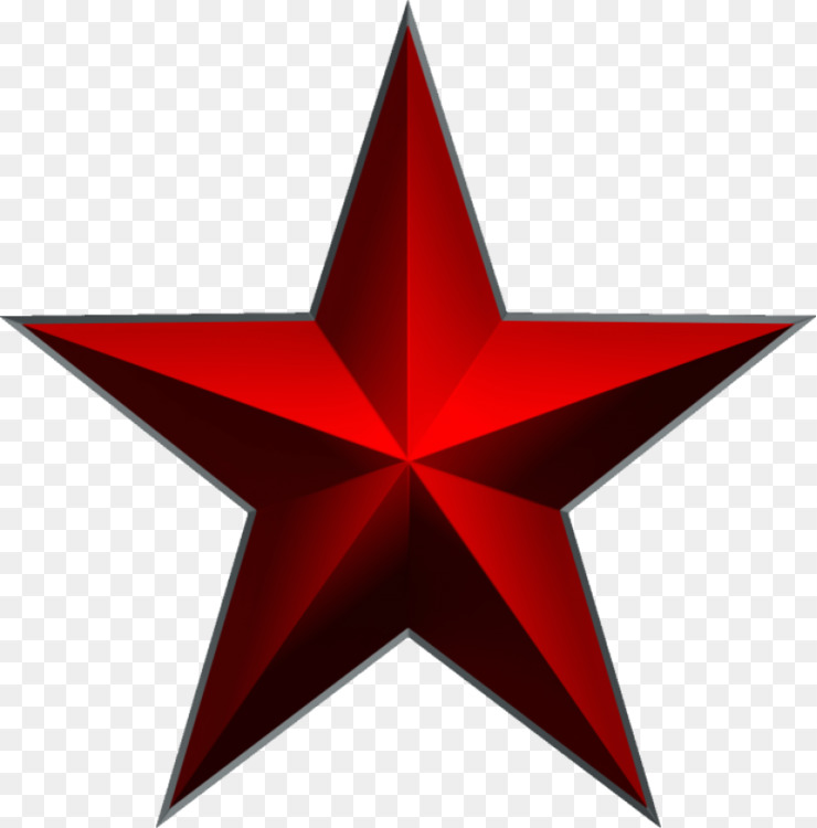 Anarchism Five Pointed Star Red Star Symbol Free Png Image