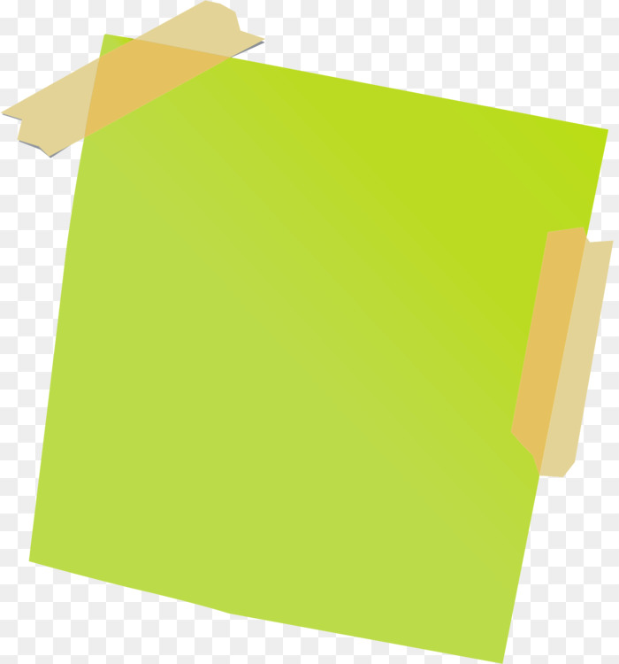 Taped note. Grass angle square transparent