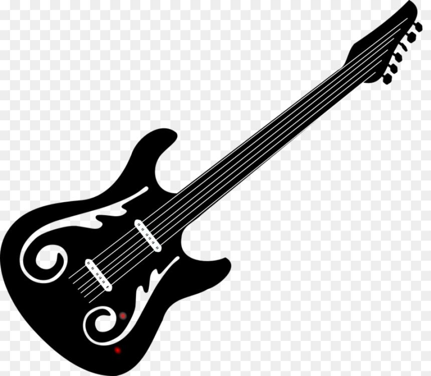 Bass Guitar Electric Guitar Double Bass Drawing Free Png Image