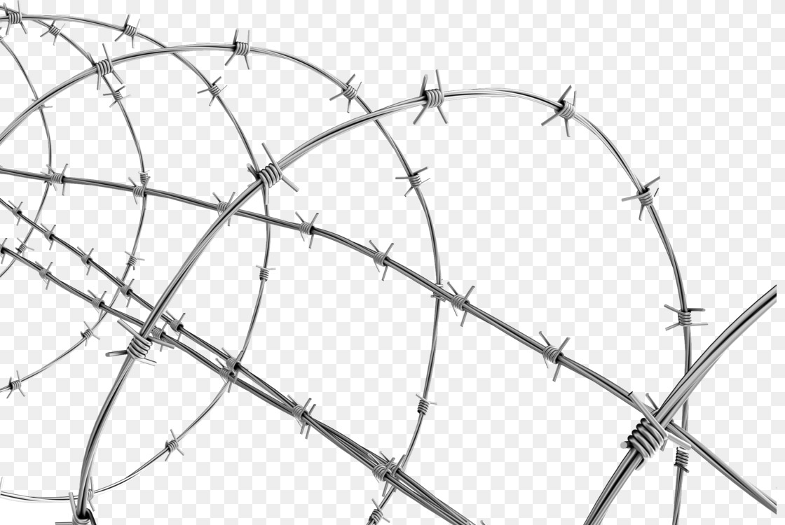 Barbed Wire Chain Link Fencing Fence Sticker