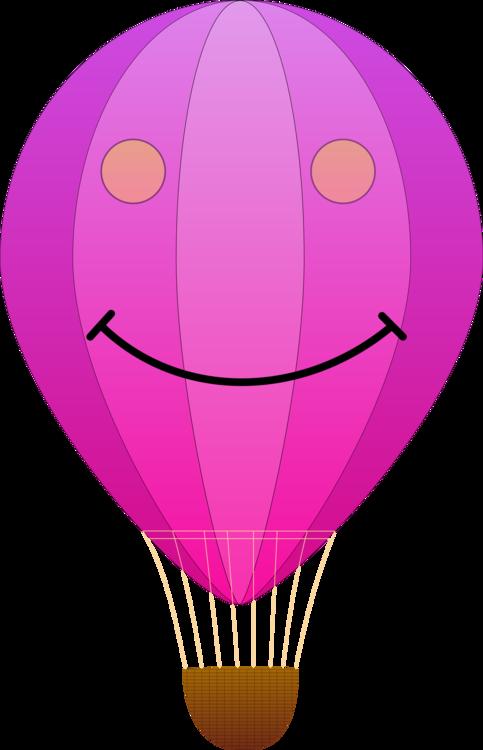Pink,Purple,Hot Air Balloon