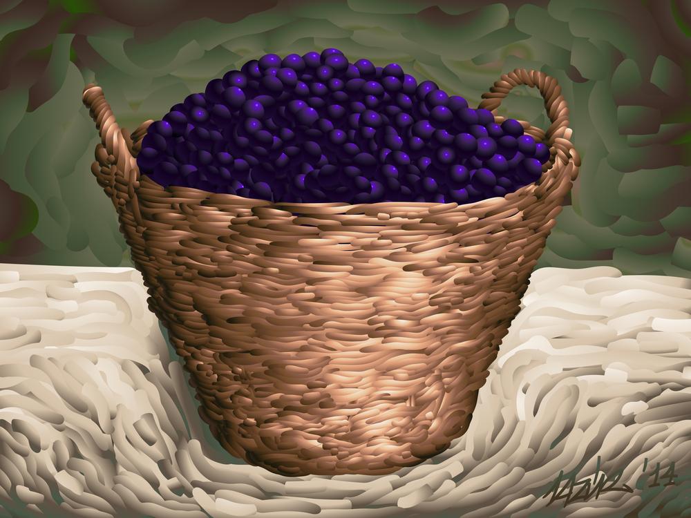 Purple,Basket,Flowerpot