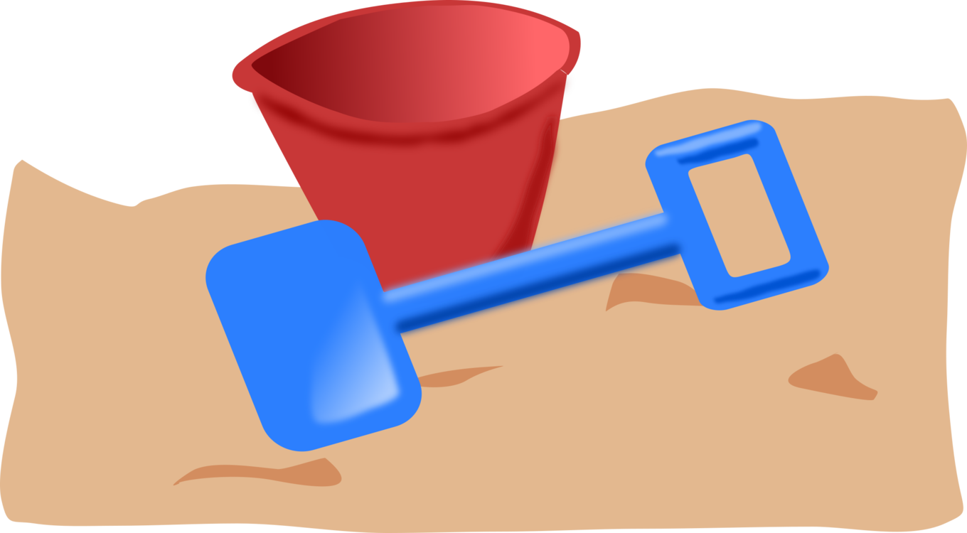 Material,Hand,Bucket And Spade