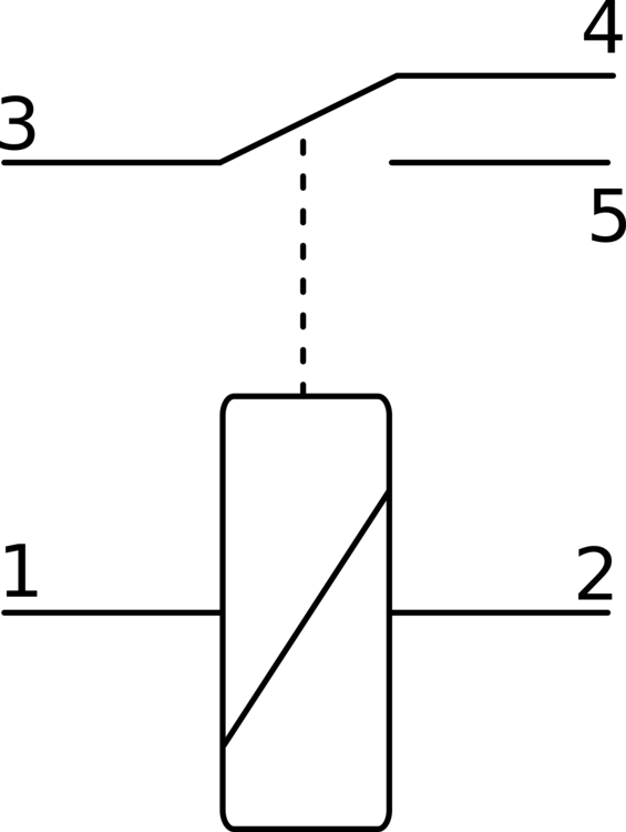 relay electrical diagram symbol