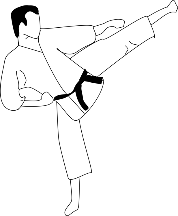 Coloring Book Colouring Pages Karate Martial Arts Drawing