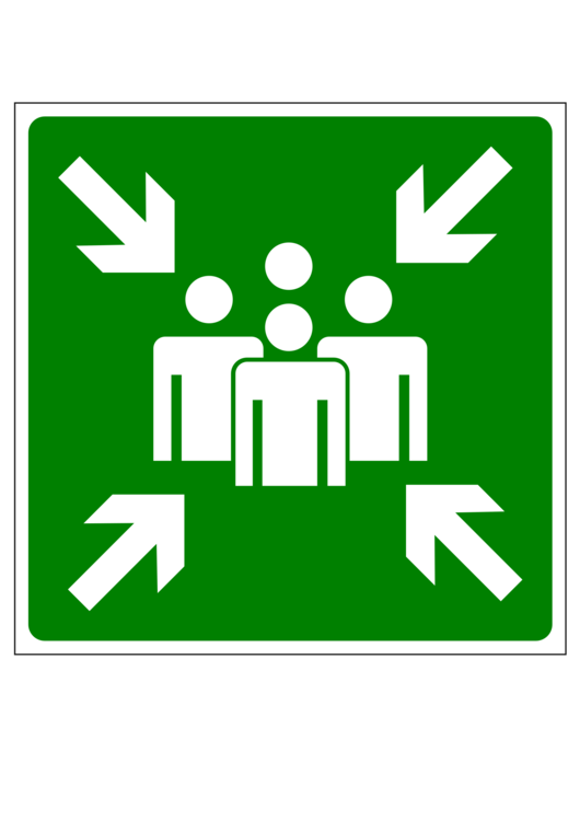 Meeting Point Computer Icons Emergency Evacuation Symbol Sign Free