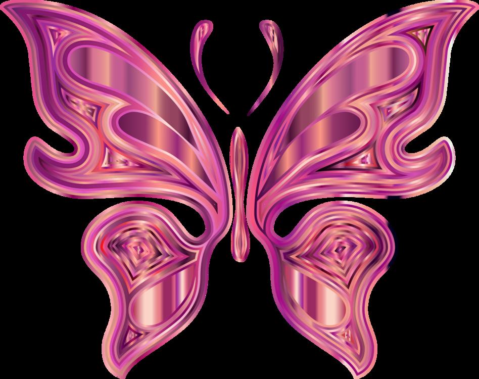 Butterfly,Pink,Symmetry