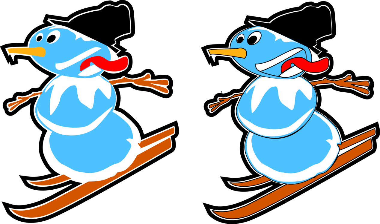 Beak Cartoon Recreation Bird Skiing free commercial clipart ...