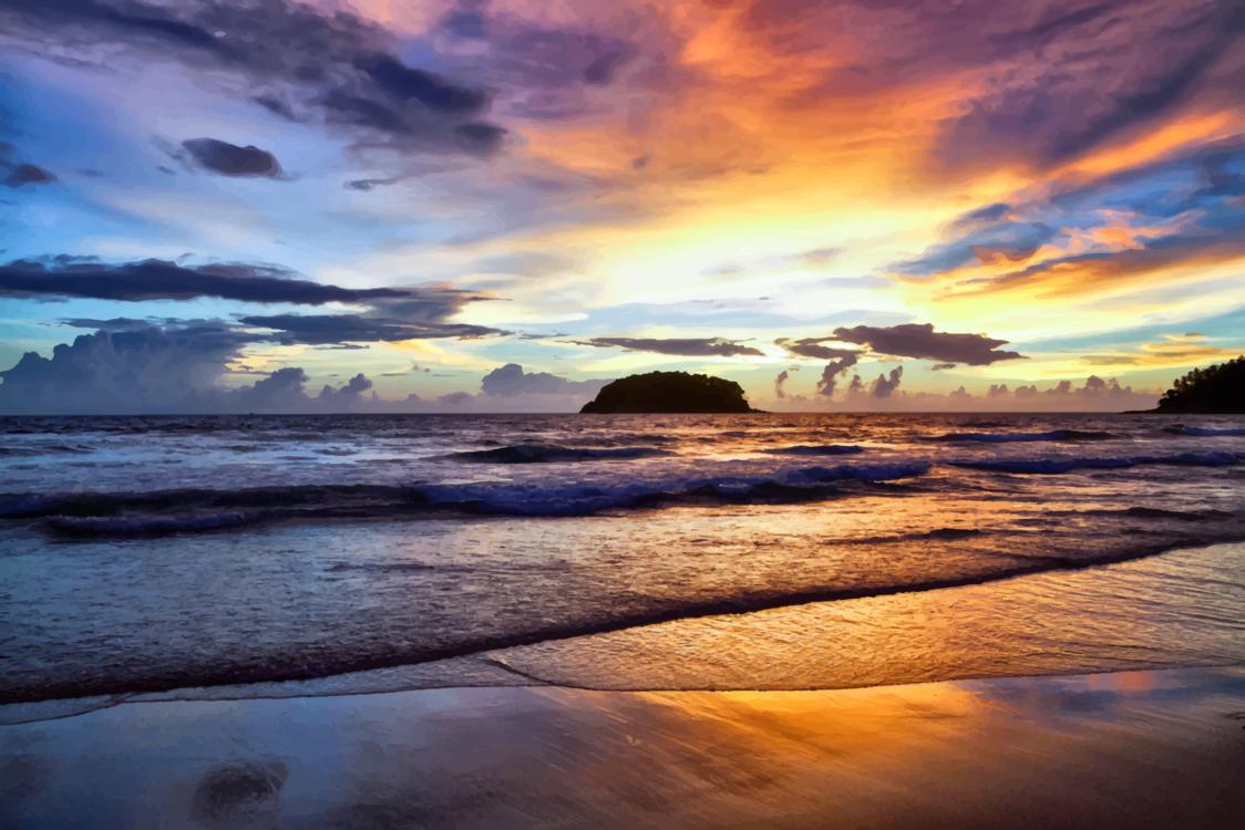 Atmosphere,Coastal And Oceanic Landforms,Sea