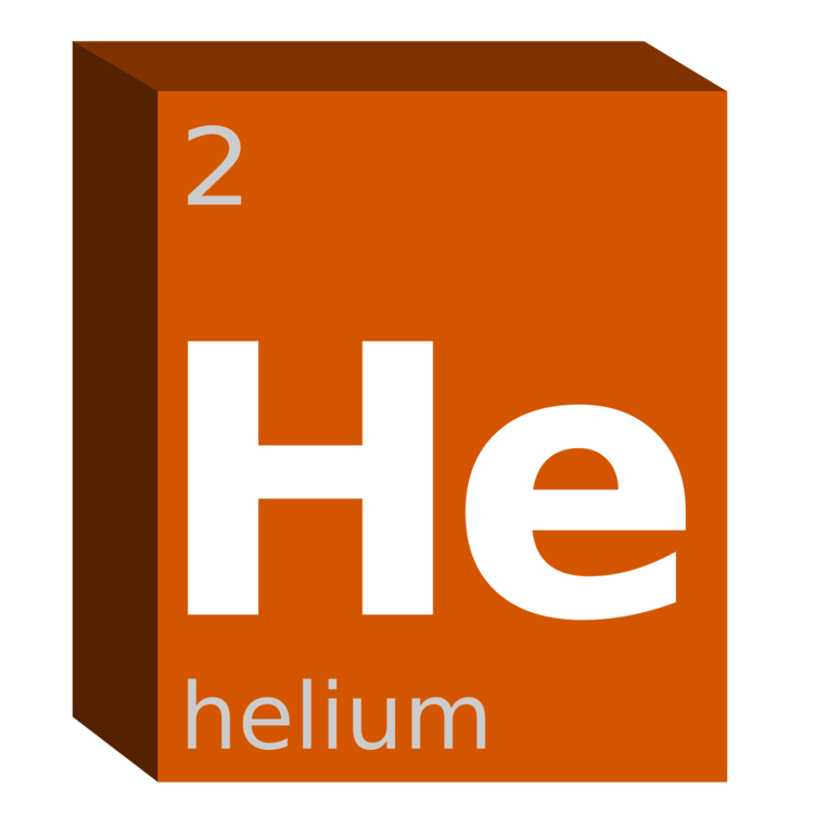 Helium Symbol Chemical Element Chemistry Block Free Commercial